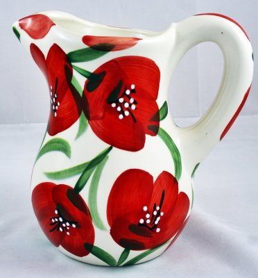Red Flower Jug