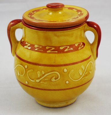 Yellow Pattern Jar (1)