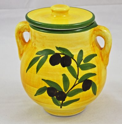 Yellow Olive Jar (1)
