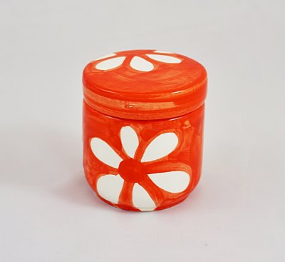 Yellow White Blossom Small Jar