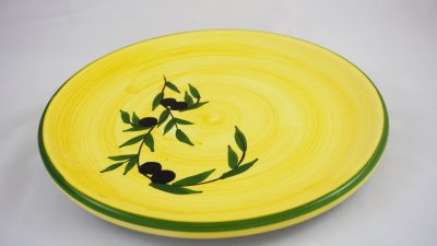 Yellow Olive Round Plate