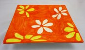 Yellow and White Blossom Square Plate (1)