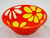Yellow and White Blossom Big Bowl