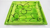 Green Flower Square Plate Set (1)