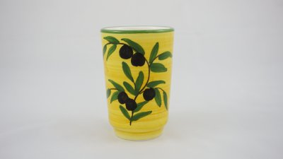 Yellow Olive Drinking Glass